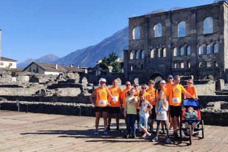 EdilEcoRun24 ad Aosta e la squadra de La casa di sabbia